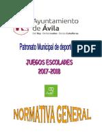 Normativa General 2017-2018