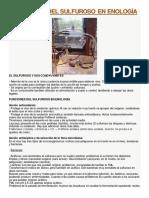 Funciones Del Sulfuroso en Enología