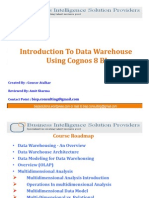 Introduction to Data Warehouse Using Cognos