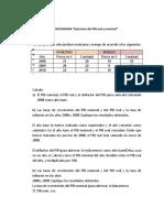 Ejercicios Del Pib Real y Nominal