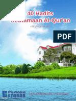 40 Hadits Keutamaan Al Quran