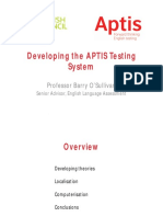 320362910 Developing the APTIS Testing System