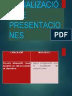 Configuración y Visualización de Presentaciones de Hache de 5 c