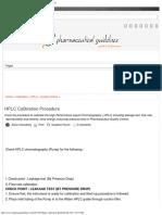 HPLC Calibration Procedure _ Pharmaceutical Guidelines