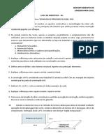 Lista de Exercicios N 01 - Tecnologia e Processos Da Construcao Civil
