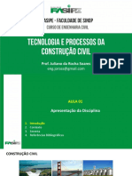 Aula 01 - Ementa - Construção Civil - Fasipe - Juliano