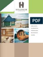HOLZHEIM Saunafaesser Katalog 2015