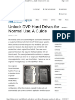 Unlock Dvr Hdd to Work on Pc Power-up in Standby Puis
