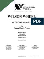 Wilsonwheel Operator Manual for Trumpf