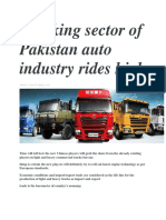 Trucking Sector of Pakistan Auto Industry Rides High