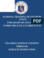 Ppt on Explicit Instruction in Teaching Science Content -1a