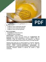 La torta tres leches es un postre originario de los países de América Latina y se caracteriza por contener.docx