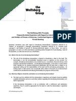 Wolfsberg FAQs on Intermediaries May 2012