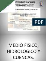 Aspecto Fisico, Hidrologico y Cuencas