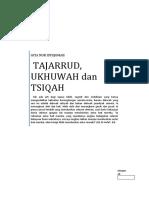 Tajarrud, Ukhuwah Dan Tsiqah