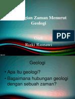 Pembagian Zaman Menurut Geologi
