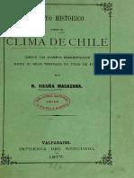 Benjamin Vicuña Mackenna. Ensayo Historico Sobre El Clima de Chile