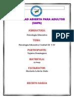 Actividad III y IV Psicologia Educativa