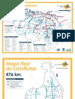 Mapa Rutas Ciclorutas Semana Bici 2017