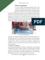 A Seminar on 3d PrintingFINAL 24012016
