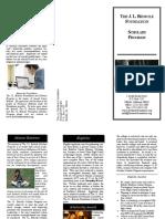 2017 bedsole scholarship brochure