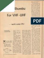 Dual Rhombic Vhf-uhf