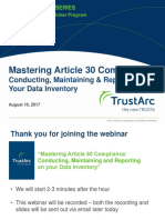 Mastering Article 30 Compliance with Data Inventory | TrustArc Webinar