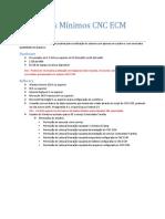 Requisitos Mínimos - CNC ECM