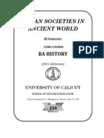 Urban Societies in Ancient World