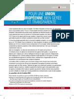Société civile N°146 Pour une union européenne bien gérée et transparente.pdf