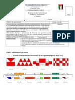 Evaluacion de fracciones 4° A
