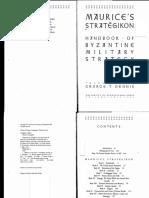 Maurice's Strategikon. Handbook of Byzantine Military Strategy