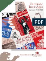 Le programme de l'université inter-âges de Poitiers
