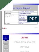 Six Sigma Project - Machining