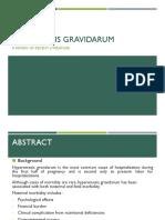 Hyperemesis Gravidarum Presentation