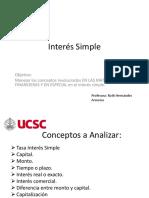 Interés Simple y Conceptos Asociados Ucsc