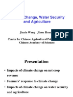 Climate Change, Water Security and Agriculture