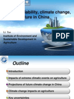 Climate variability, climate change, and agriculture in China