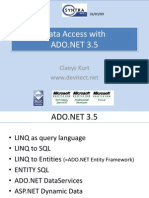 DataAccess using ADO.NET