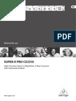 Manual Behringer Cx2310 Esp