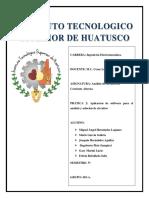 PRACTICA 2.- Aplicacion de Software Para El Analisis y Solucion de Circuitos