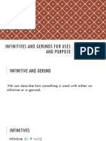 Gf Infinitives and Gerunds for Uses and Purpose