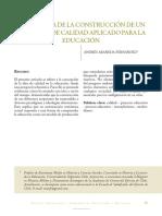 Genealogía de la construcción de un concepto de calidad aplicado para la educación