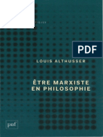 Louis Althusser Etre Marxiste en Philosophie 1