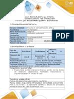 Guia de Actividades y Rúbrica de Evaluación Unidad 1 Fase 1 Informacion Del Caso.
