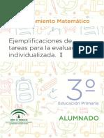 Razonamiento Matematico. 3º EP Alumnado y Profesorado