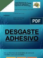 Diapositivas Desgaste Adhesivo y Por Rodadura