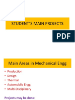 Student's Main Projects