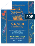 Magic Carpet Musical Scholarship