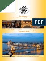 Announcement Budapest 2017